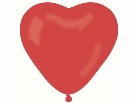 "Balon CR pastel ""Serce bez nadruku"" - czerwony 45 / 50 szt. CR/45/50"