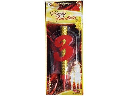 """Fontanna tortowa z cyfrą """"3"""" - DF12CM3"""