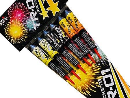 Zestaw rakiet Yellow Rockets TR-01 - 6 sztuk
